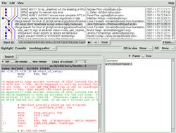 Screenshot of gitk