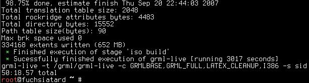 Screenshot: grml-live