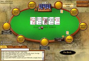 Screenshot von Pokerstars in Wine