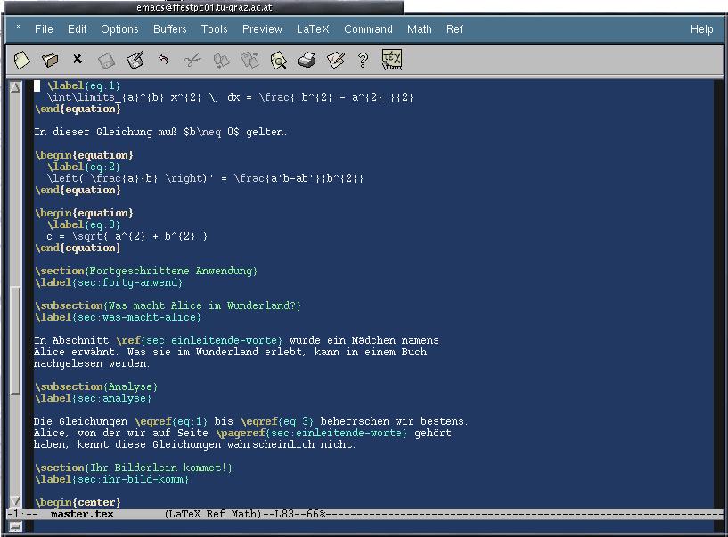 LaTeX@TUG: Emacs